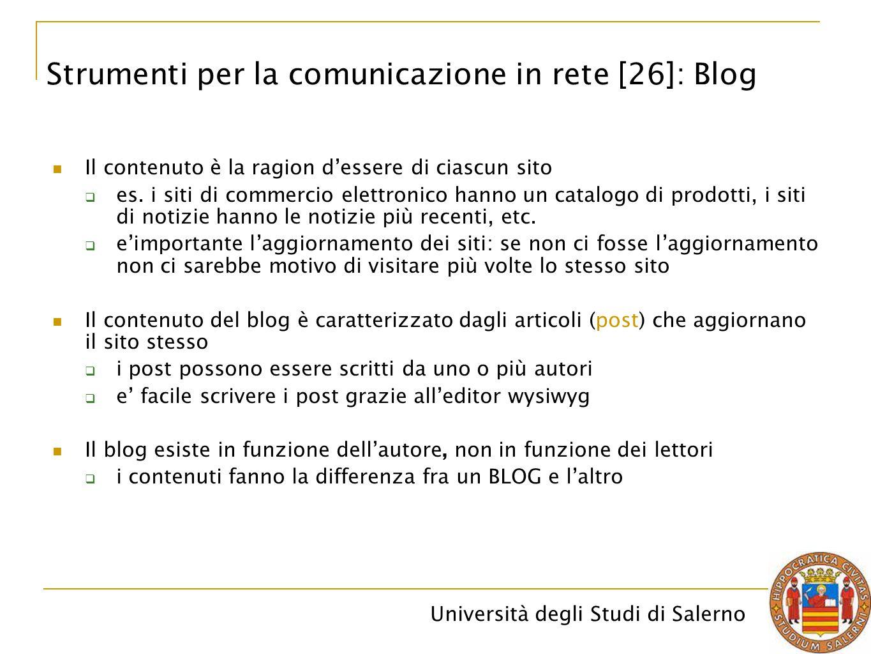 Strumenti per la comunicazione in rete [26]: Blog